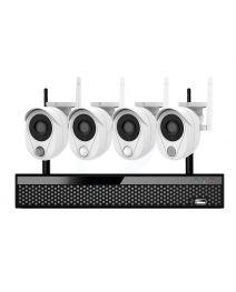 Amiko Home 4 cameraset WiFi bewegings- gas- en rook detectie