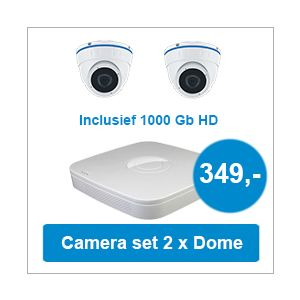 Camera set met NVR + 2 Dome camera