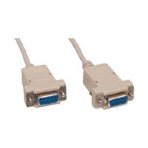 Kabel Nullmodem F/F 9 pins