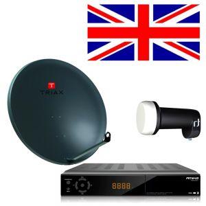 Complete satelliet SET voor de ontvangst van Engelse zenders