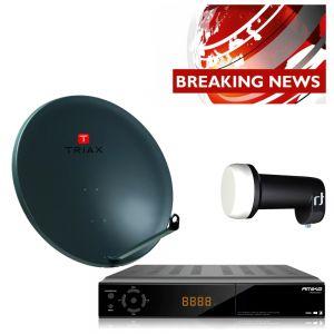 Complete satelliet SET voor de ontvangst van nieuws zenders