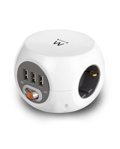 Power block 3 USB Charging Ports, 3 Outlets