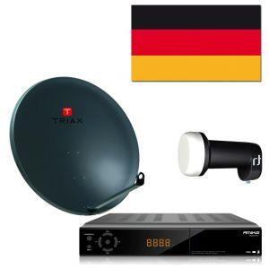 Complete satelliet SET voor de ontvangst van Duitse zenders