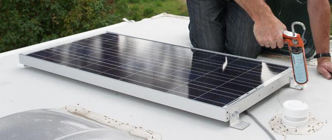 zonnepanelen voor camper of boot montage