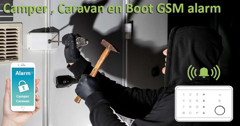 Camper, Boot en Caravan GSM alarm