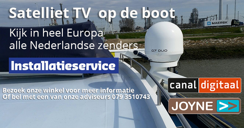 Satelliet TV op de boot