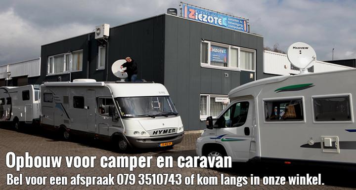 Schotel montage voor camper en caravan